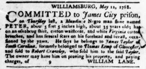 Jun 30 - Virginia Gazette Purdie and Dixon Slavery 11