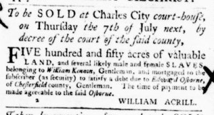 Jun 30 - Virginia Gazette Purdie and Dixon Slavery 4