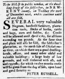 Jun 30 - Virginia Gazette Rind Slavery 5