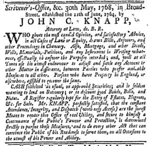 Jun 6 - New-York Gazette Weekly Mercury Slavery 2