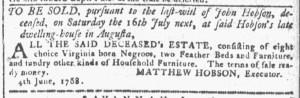 Jun 8 - Georgia Gazette Slavery 1