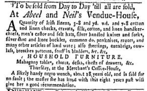 Aug 1 - New-York Gazette Weekly Mercury Slavery 2
