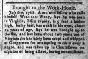 Aug 5 - South-Carolina and American General Gazette Slavery 2