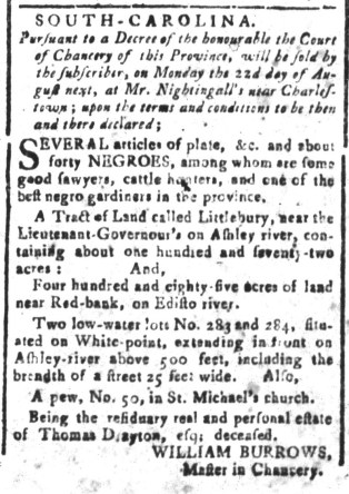 Aug 5 - South-Carolina and American General Gazette Slavery 6