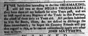Jul 19 - South-Carolina Gazette and Country Journal Slavery 7