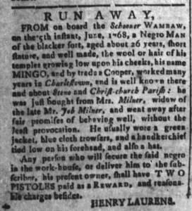 Jul 22 - South Carolina and American General Gazette Slavery 4