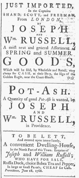 Jul 23 - 7:23:1768 Providence Gazette