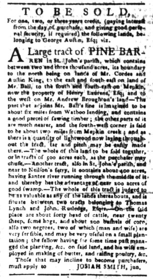 Jul 25 - South-Carolina Gazette Slavery 6