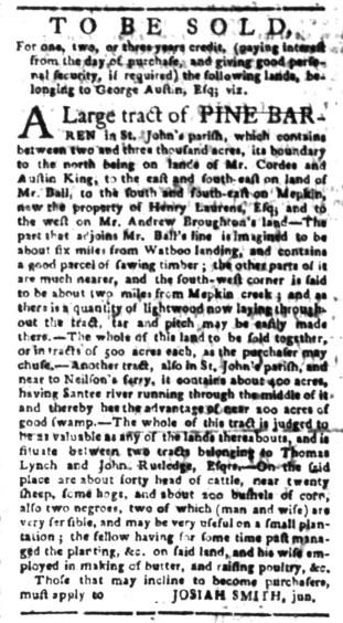 Jul 25 - South-Carolina Gazette Slavery 6