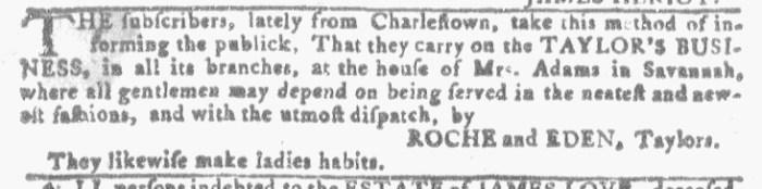 Jul 27 - 7:27:1768 Georgia Gazette