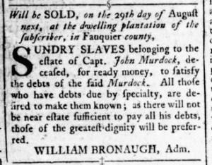 Jul 28 - Virginia Gazette Rind Slavery 3