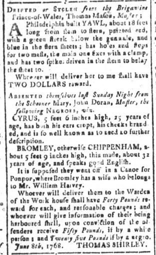 Aug 12 - South-Carolina and American General Gazette Slavery 10