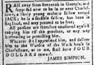 Aug 12 - South-Carolina and American General Gazette Slavery 8