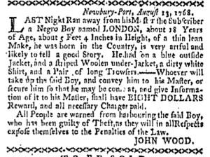 Aug 15 - Boston-Gazette Slavery 1