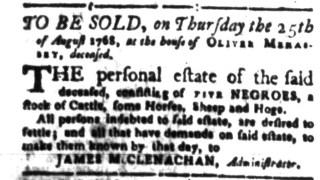 Aug 15 - South-Carolina Gazette Slavery 11