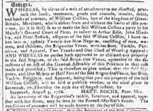 Aug 17 - Georgia Gazette Slavery 2