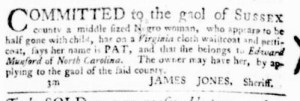 Aug 18 - Virginia Gazette Purdie and Dixon Slavery 10