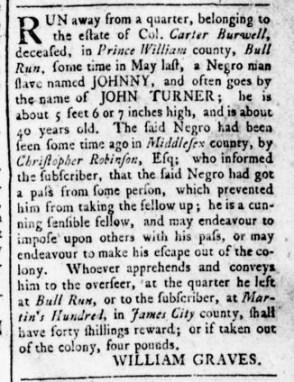 Aug 18 - Virginia Gazette Rind Slavery 5