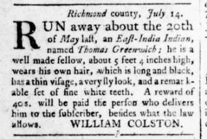 Aug 18 - Virginia Gazette Rind Slavery 7