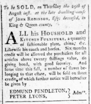 Aug 18 - Virginia Gazette Rind Slavery 9