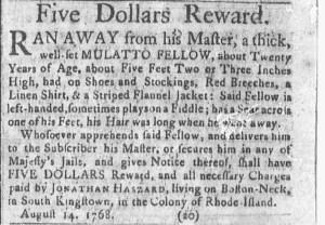 Aug 22 - Newport Mercury Slavery 1