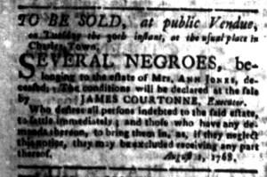 Aug 22 - South-Carolina Gazette Slavery 9
