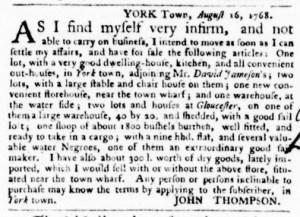 Aug 25 - Virginia Gazette Purdie and Dixon Slavery 2