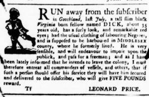 Aug 25 - Virginia Gazette Purdie and Dixon Slavery 9