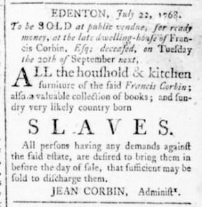 Aug 25 - Virginia Gazette Rind Slavery 4
