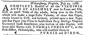 Aug 28 - 8:25:1768 Pennsylvania Gazette