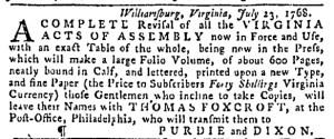 Aug 28 - 8:25:1768 Pennsylvania Gazette