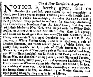 Aug 29 - New-York Gazette Weekly Post-Boy Slavery 1