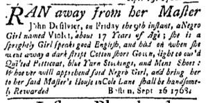 Oct 3 - Massachusetts Gazette Green and Russell Slavery 1