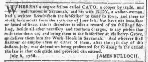 Sep 14 - Georgia Gazette Slavery 4