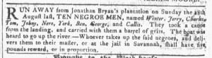 Sep 14 - Georgia Gazette Slavery 8