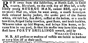 Sep 15 - Pennsylvania Gazette Postscript Slavery 1
