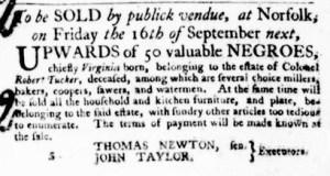 Sep 15 - Virginia Gazette Purdie and Dixon Slavery 10