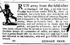 Sep 15 - Virginia Gazette Purdie and Dixon Slavery 13