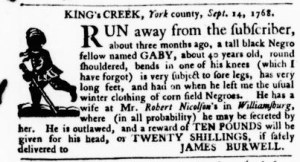 Sep 15 - Virginia Gazette Purdie and Dixon Slavery 2