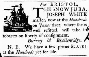 Sep 15 - Virginia Gazette Purdie and Dixon Slavery 3