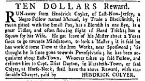 Sep 19 - New-York Gazette Weekly Mercury Slavery 2