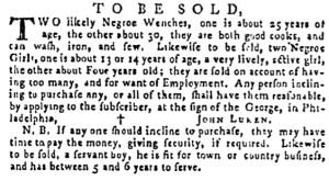 Sep 29 - Pennsylvania Gazette Supplement Slavery 1