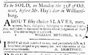 Sep 29 - Virginia Gazette Purdie and Dixon Slavery 5