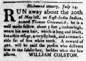 Sep 29 - Virginia Gazette Rind Slavery 9