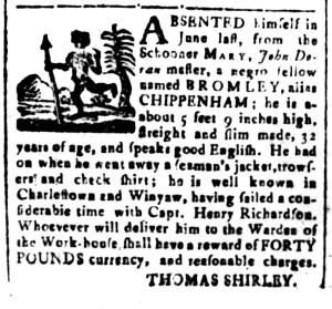 Sep 30 - South-Carolina and American General Gazette Slavery 2