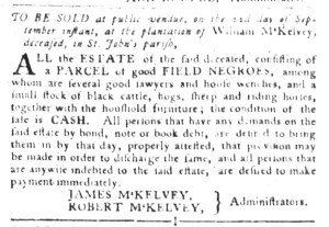 Sep 6 - South-Carolina Gazette and Country Journal Slavery 3