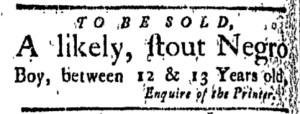 Sep 9 - New-London Gazette Slavery 1