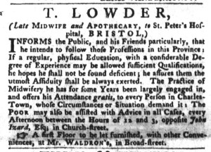 Nov 1 - 11:1:1768 South-Carolina Gazette and Country Journal Page 1