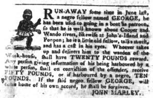 Nov 1 - South-Carolina Gazette and Country Journal Slavery 1