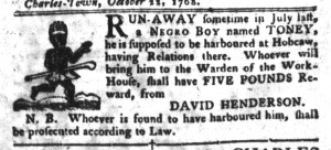 Nov 1 - South-Carolina Gazette and Country Journal Slavery 11